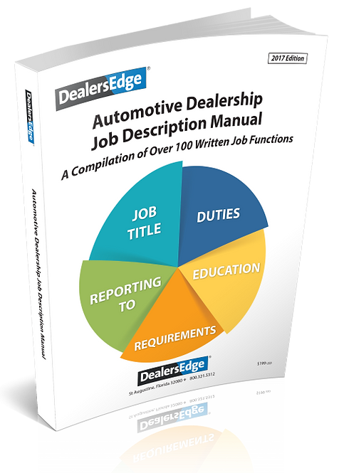 Updated 2017- Job Descriptions for Dealership Staff