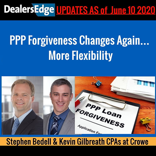 PPP Forgiveness Changes Again… More Flexibility