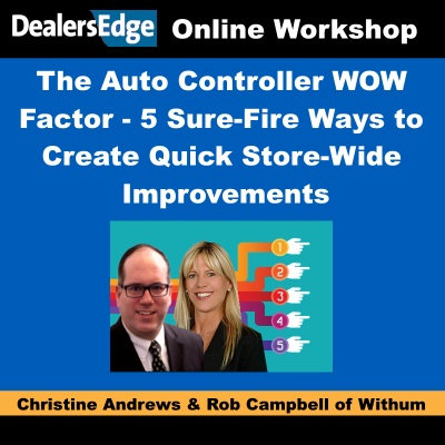 The Auto Controller WOW Factor - 5 Sure-Fire Ways to Create Quick Improvments