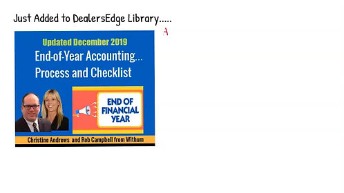 End-of-Year Accounting   Process and Checklist