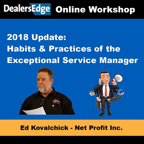 2018 Update: Habits & Practices of the Exceptional Service Manager
