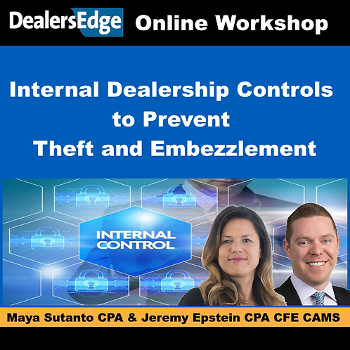 Internal Dealership Controls to Prevent Theft and Embezzlement