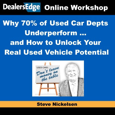 Why 70% of Used Car Depts Underperform