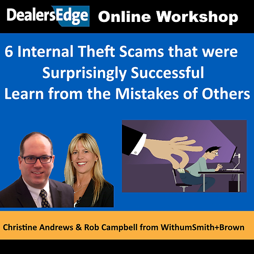 6 Internal Theft Scams—Surprisingly Successful
