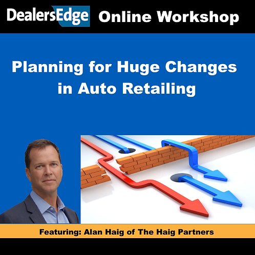 Planning for Huge Changes in Auto Retailing