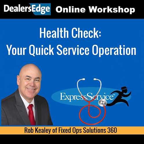 Health Check: Your Quick Service Operation