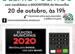 CDL e Associação Empresarial promovem debate com os candidatos à majoritária