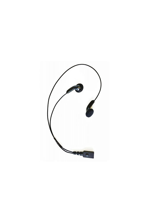 MP3 style receive only earbud audio accessory