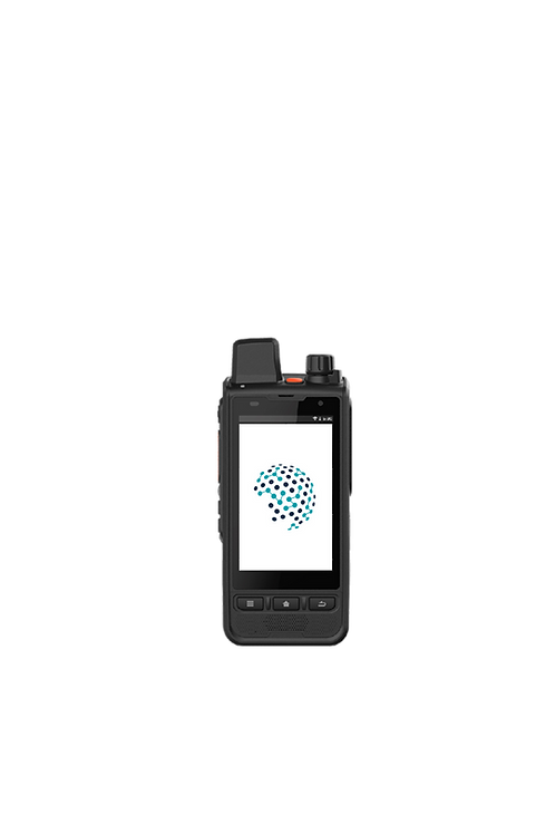 Telo TE590 Android handheld radio for push to talk over cellular or PoC video front view