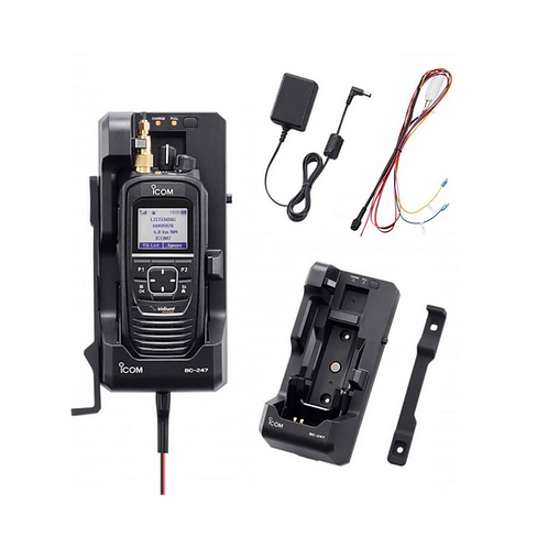 Car kit for Icom ICSAT-100 satellite PTT radio