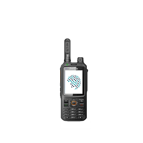 Inrico T320 front view handheld POC radio with keypad push to talk over cellular android tassta