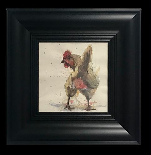 El culo de la gallina