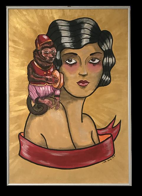 Mujer con mono