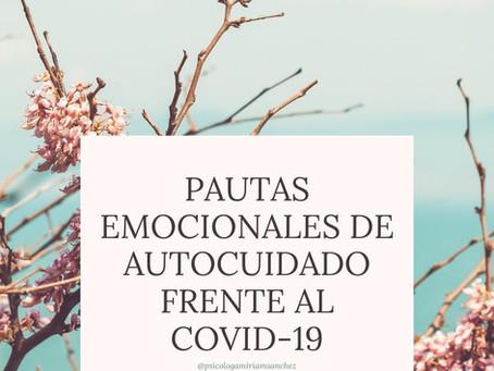 PAUTAS EMOCIONALES DE AUTOCUIDADO EMOCIONAL FRENTE AL COVID-19