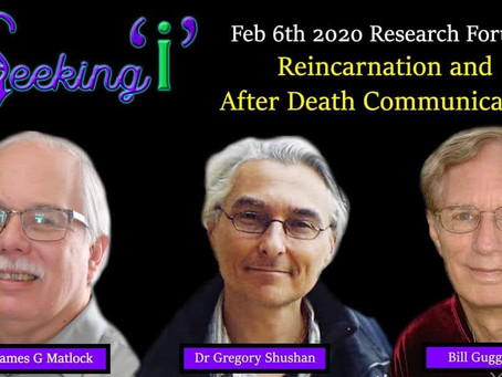 Saturday Online Event: NDEs, Reincarnation, and After-Death Communication
