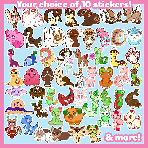 Pick and Choose: 10 Stickers!