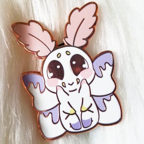 Mothmallow Enamel Pin