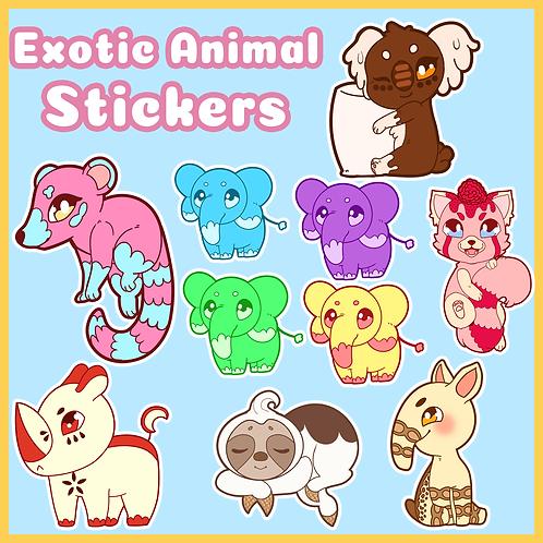Exotic Animal Stickers