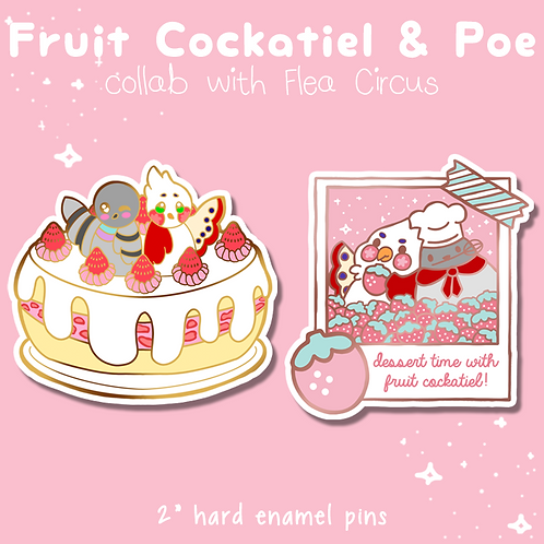 """Fruit Cockatiel & Poe"" Collab with FleaCircusDesigns"