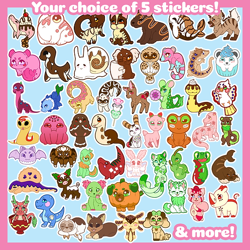 Pick and Choose: 5 Stickers!