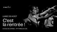 Bleu Tendance Noir et Blanc Kit de conférenceséminaire Couverture d'événement Facebook.png