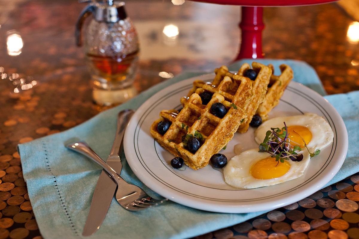 cornbread jalapeno waffles