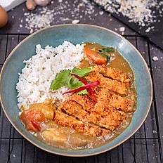 Chicken Katsu Curry (served with Japanese rice) -