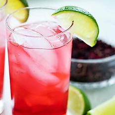 Hibiscus Gin Fizz