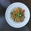 Ackee & Saltfish w. asian noodles