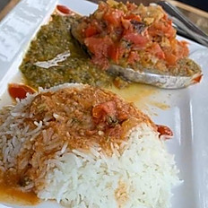 SPECIAL!  Stewed King Fish Dinner