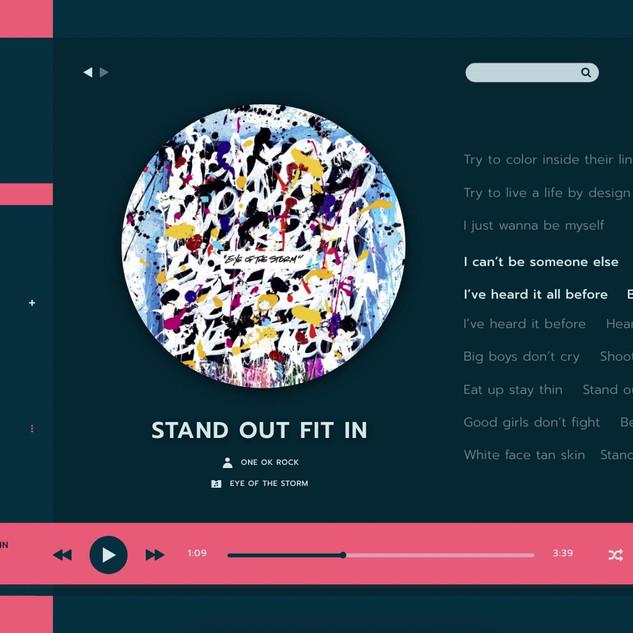 UI/UX music player