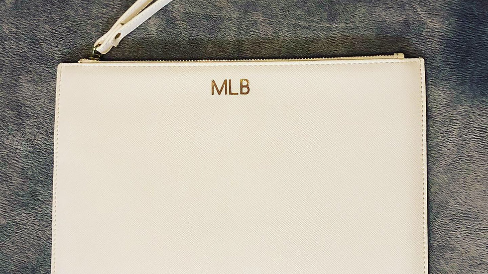 Personalised Clutch Bag (White)