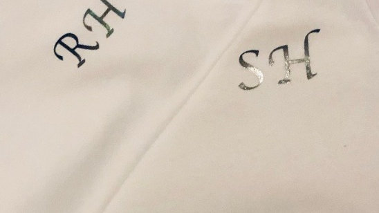 Adult White Initial T-Shirt