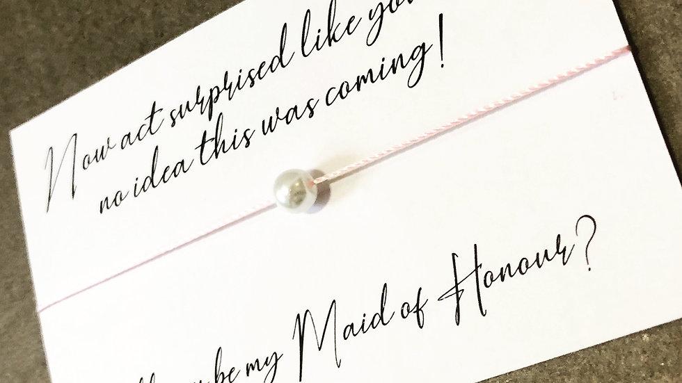 Bridesmaid / Maid of Honour Proposal
