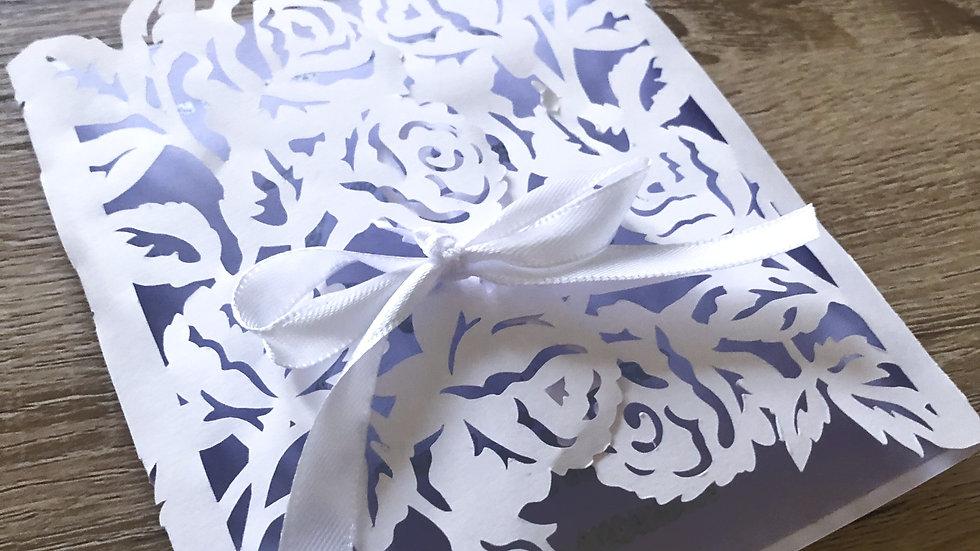 Floral Lace Invite