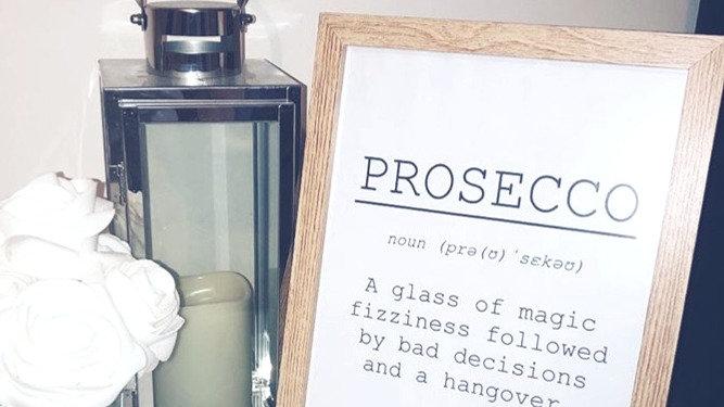 Prosecco A4 Poster
