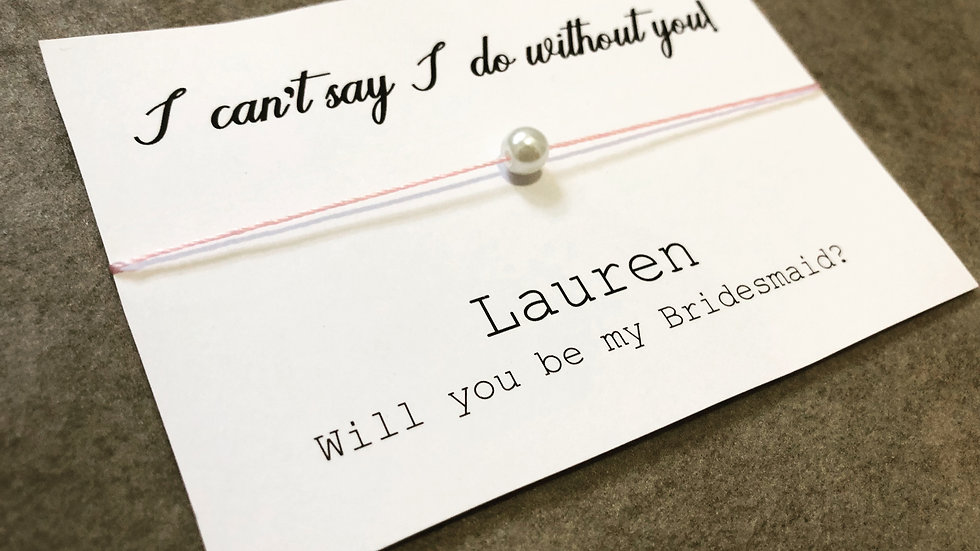 Personalised Bridesmaid / Maid of Honour Cards