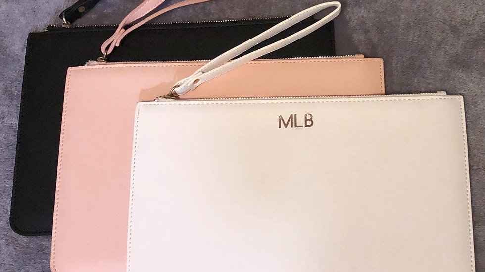 Personalised Clutch Bag (Blush)