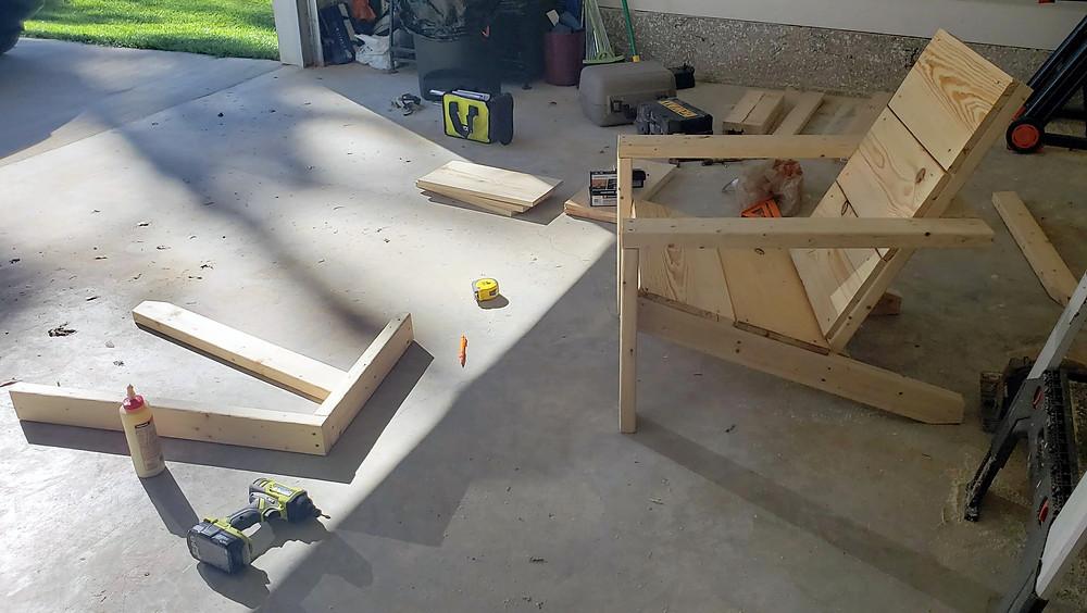 garage workshop modern adirondack chairs
