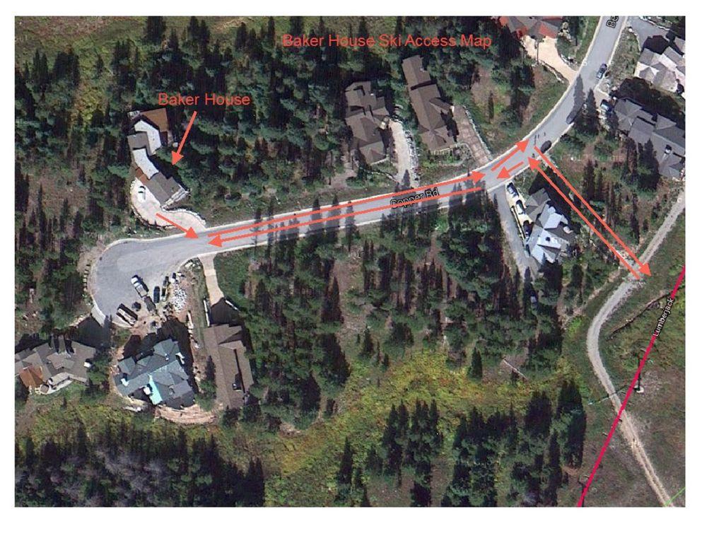 Baker House Ski Access Map