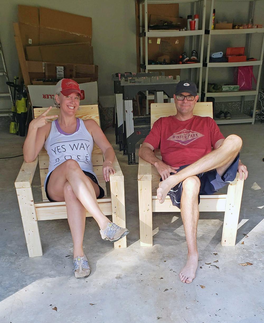 diy modern Adirondack chairs ana white plans