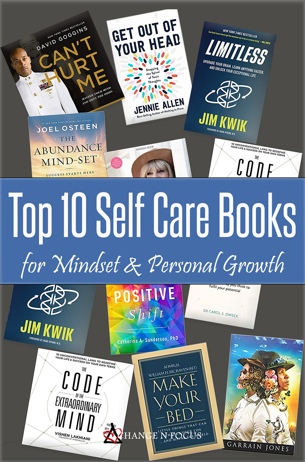 Top 10 Self Care Books for Mindset & Personal Growth Pin