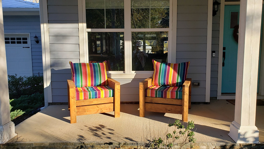 Front Porch DIY Wood Chairs