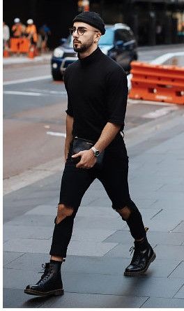 BLACK OUTFITS FOR MEN. Black outfit, street style, comfort style, fashion