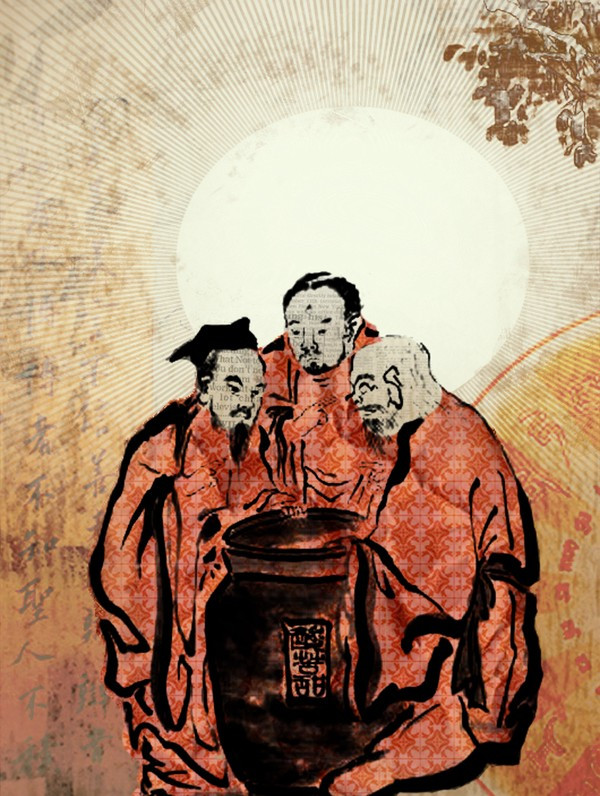 Buddha, Lao Tzu and Confucius