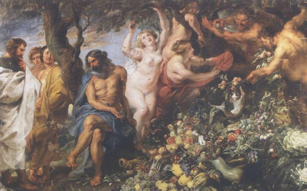 Pythagoras endorsing vegetarianism