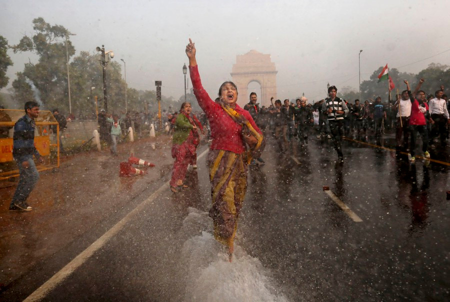 Protests at the India Gate