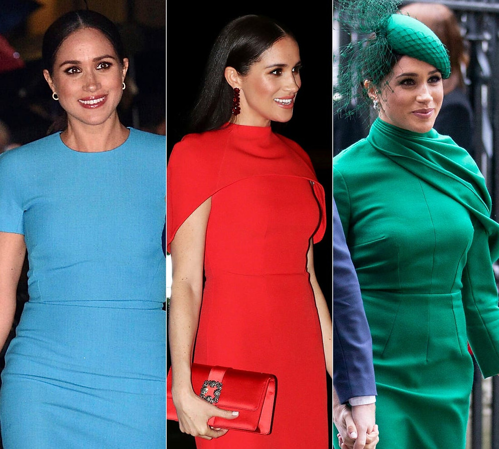 COLORFUL OUTFITS, Meghan Markle, classy outfits