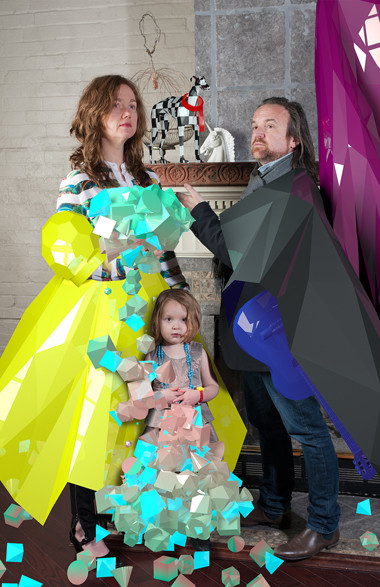 """Important Portrait of MichaelFarrell, Catherine Richens and Mabel Ray Richens, 2013, C print, 17"""" x 11""""   28/42"""