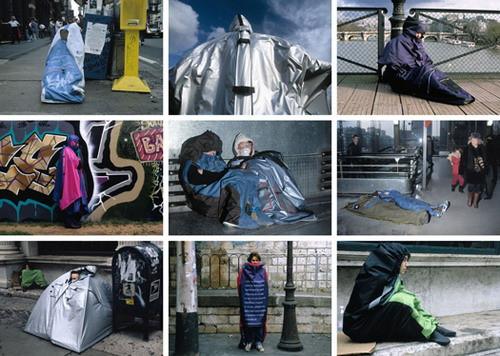 Refuge Wear City Interventions 1993–1996, 2006, Original Lambda colour photographs, laminated on Dibon, 9 modules, 200 × 290cm (60 × 90cm each), 9th Havana Biennale, Cuba   41/54
